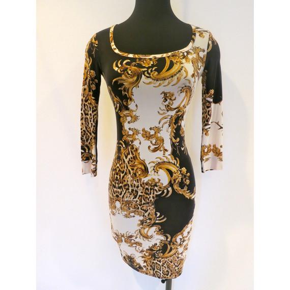Just Cavalli Printed Stretch Dress