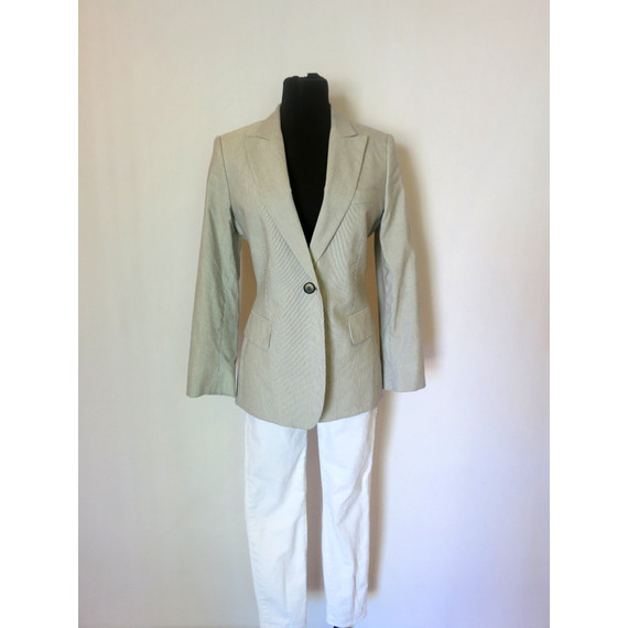 Stella McCartney Blue and White Pin-Stripe Blazer