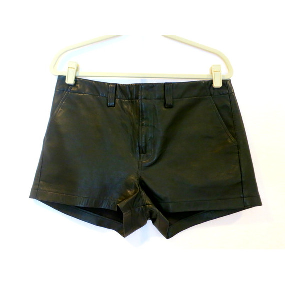J Brand Black Leather Shorts
