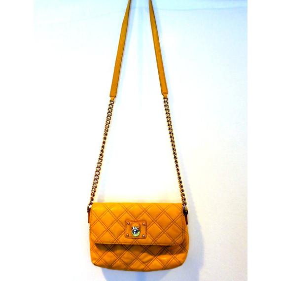 Marc Jacobs Yellow Quilted Crossbody Handbag