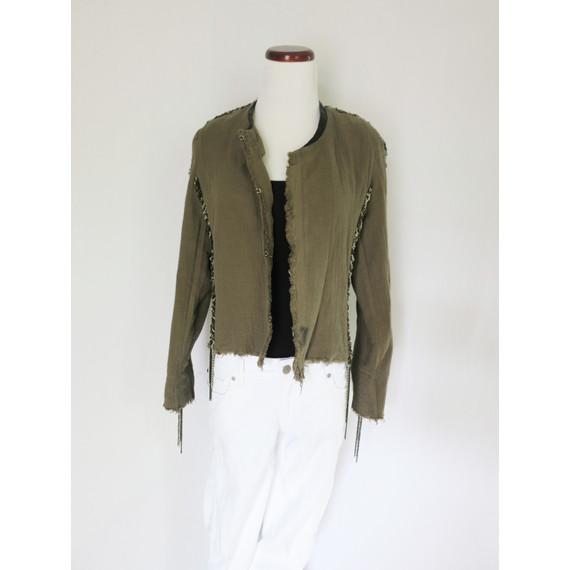 IRO Gray Jacket Blazer with Chain Detail