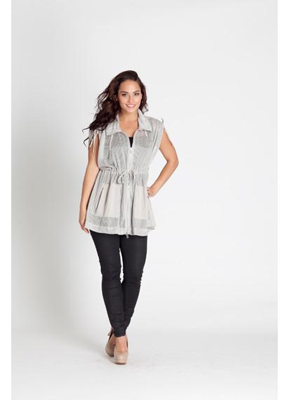 Armani Exchange Silver Grey Chainmail Tie Dress