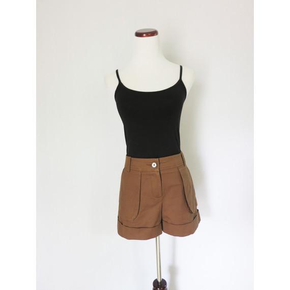 Trina Turk Chocolate Tailored Shorts