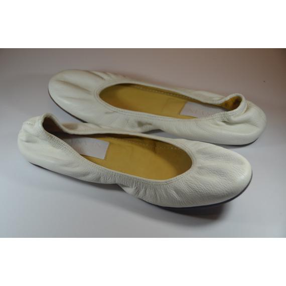 Lanvin White Ballet Flats