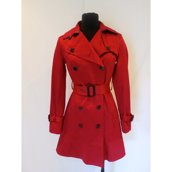 Andrew Marc New York Red Trench Coat