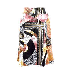 Just Cavalli New With Tags Multicolor Assorted Print Flutter-bottom Skirt  Size: It40 / Us6