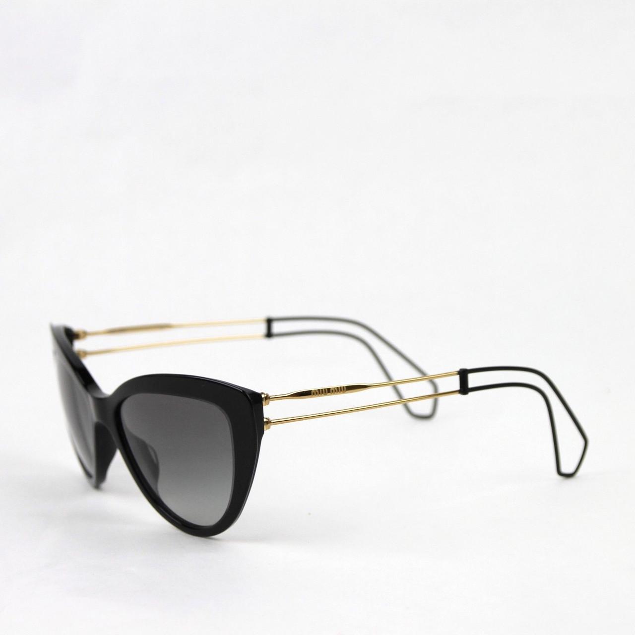 Miu Miu Cat Eye Blackgray Transparent Sunglasses 12r U6f 3m1