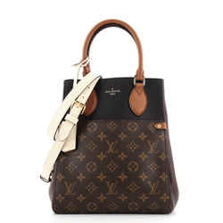 Fold Tote Monogram Canvas and Leather MM
