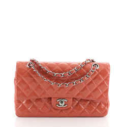 Chanel Classic Double Flap Bag Quilted Patent Medium