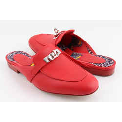 Hermes Red Oz Mules