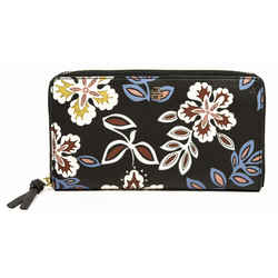Tory Burch Black Printed Leather Continental Wallet