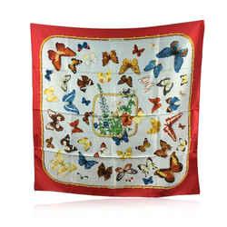 Hermes Paris Vintage Red Silk Farandole 1985 Caty Latham