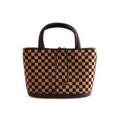 LOUIS VUITTON Limited Edition Damier Sauvage Calf Hair Impala Bag