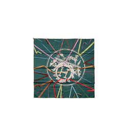 Hermes Green Attrape Tes Reves Silk 90 Cm Scarf