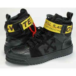Off White Industrial Hi Top Sneakers - Black