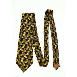 Dior: Black & Gold, 100% Silk, Club Tie