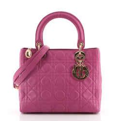 Vintage Lady Dior Bag Cannage Quilt Lambskin Medium