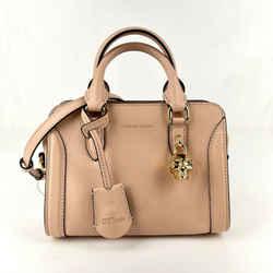 $1295 Alexander Mcqueen Powder Pink Leather Skull Padlock Handbag 419781 9934