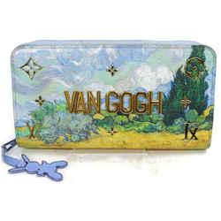 Louis Vuitton Jeff Koons Icons Van Gogh Zippy Wallet Zip Around Starry Night 855663