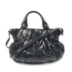 Vintage Authentic Celine Black Patent Leather Leather Satchel France