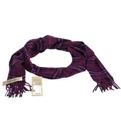 Burberry Dark Violet Classic Vintage Check Cashmere Scarf