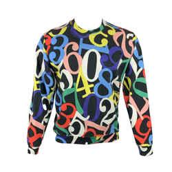 Love Moschino Size S Multi-color Print Crew-neck Sweatshirt