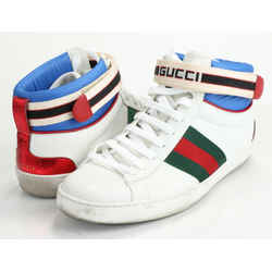 Gucci Ace Gucci Stripe High-Top Sneakers