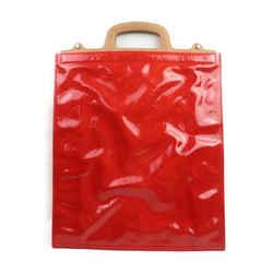 Louis Vuitton Red Monogram Vernis Stanton Shopper Tote Sac Plat 863456