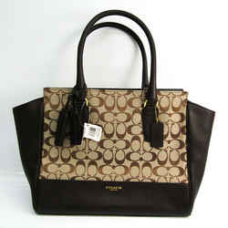 Coach Signature Peyton Heritage F25402 Women's Canvas,Leather Tote Bag  BF521766