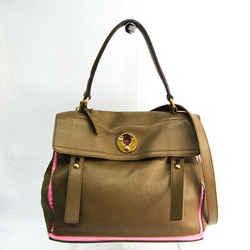 Yves Saint Laurent Muse Two 229680 Women's Leather,Canvas Handbag,Shoul BF520451