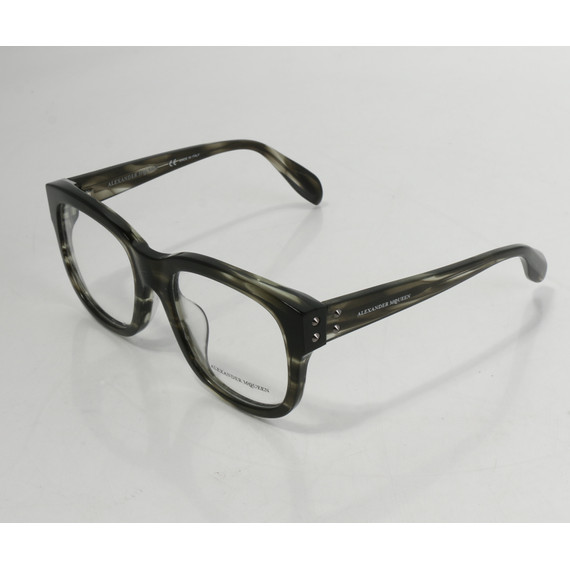 Alexander Mcqueen Edge Eyeglasses - Black