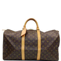 LOUIS VUITTON Keepall 50 Monogram Canvas Travel Bag Brown