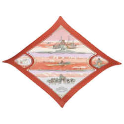"Hermes ""Gronland,"" by Philippe Ledoux Silk Plisse Pleated Scarf"