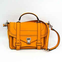 Proenza Schouler Ps1 + Medium Satchel Women's Leather Handbag Yellow Bf328419