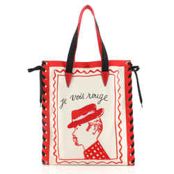 Cabalace Tote Printed Canvas with Leather
