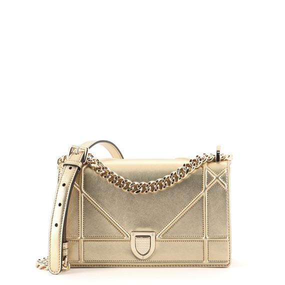 Diorama Flap Bag Metallic Grained Calfskin Small