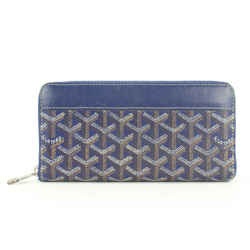 Goyard Blue Chevron Matignon Zip Around Wallet Continental 862609