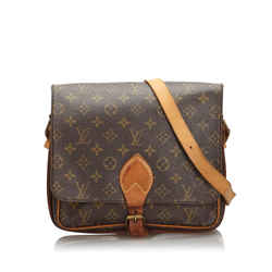 Vintage Authentic Louis Vuitton Brown Monogram Cartouchiere Gm France