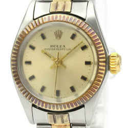 Vintage ROLEX Oyster Perpetual 6619 Gold Steel Automatic Ladies Watch BF530450