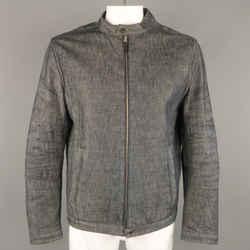 Neil Barrett L Indigo Navy Denim Biker Style Jacket