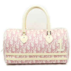 Christian Dior Pink Monogram Trotter Girly Chic Boston Bag 863136