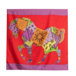 Hermes A Cheval Sur Mon Carre Silk Scarf