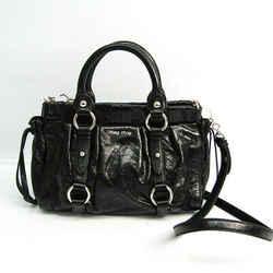 Miu Miu Women's Leather Handbag,Shoulder Bag Black BF520492