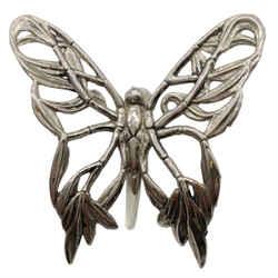 John Hardy Silver Butterfly Clip Hair Accessory