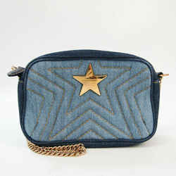 Stella McCartney Star Chain 500994 W8253 Women's Leather,Canvas Shoulde BF527979