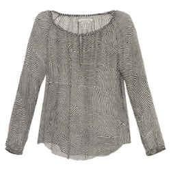 Isabel Marant Etoile Black and White Silk 'delta' Blouse Size: 8 (M)