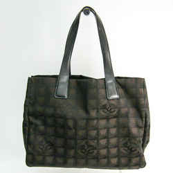 Chanel New Travel Line A15991 Women's Leather,nylon Tote Bag Brown Bf504232