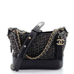 Gabrielle Hobo Quilted Tweed and Calfskin Small