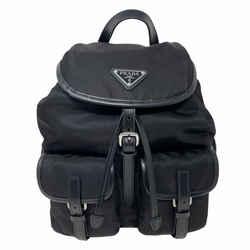 NEW Prada Black Tessuto Nylon Drawstring Backpack Rucksack Bag
