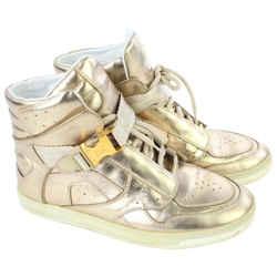 Louis Vuitton Women's 36 Metallic Gold High Top Sneakers 7LV719